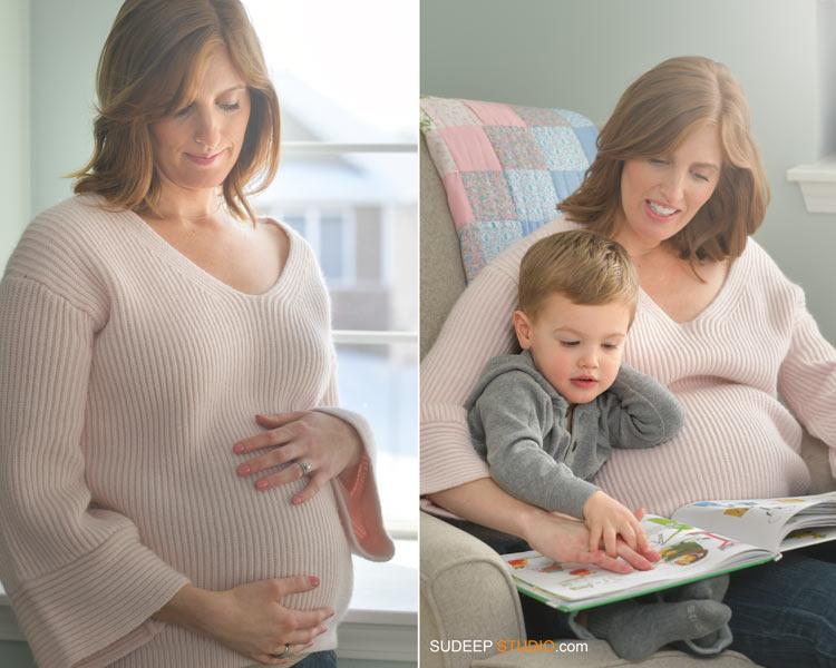 Second Child Maternity Photography SudeepStudio.com Ann Arbor Maternity New Born Portrait Photographer