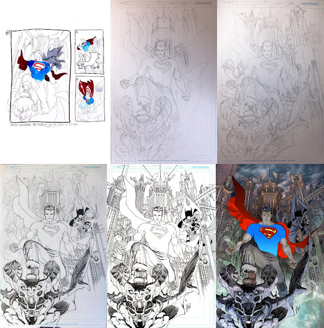 Making of a cover in 6 steps: BATMAN/SUPERMAN #1 variant by Guillem March