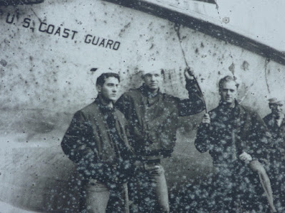 Members of a coast guard crew