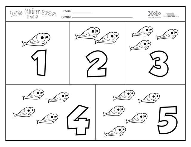 Dibujo Del Numero 1 Para Colorear: Blog MegaDiverso: Dibujos De Números Para Colorear