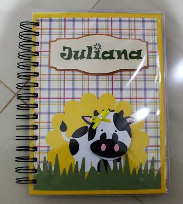 Agenda e Caderno artesanal personalizado