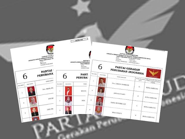 Daftar Calon Sementara Anggota DPRD Kota Bandung Pemilu 2019 dari Partai Garuda