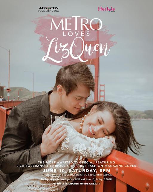 Liza Soberano and Enrique Gil Metro June 2017