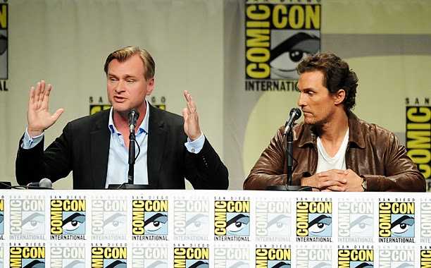 Interstellar at San Diego Comic-Con 2014. Hot actors. Blonde actors.