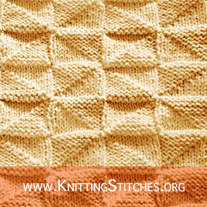 Reversible Knit Purl stitch pattern, this is my favorite knit pattern for Baby Blanket / Throw / Afghan