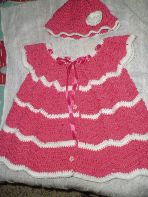 Crochet Work : Baby sweater- Crochet work