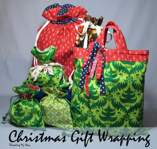 Reusable fabric gift bags to sew so sew easy when deby asked if i wanted to contribute to the so sew easy seasonal sewing series i immediately agreed not only did it sound like a fun series negle Image collections