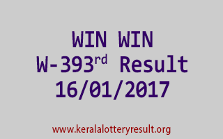 WIN WIN W 393 Lottery Results 16-01-2017