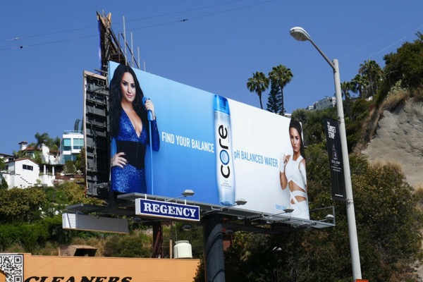Core water Demi Lovato billboard