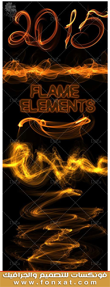 Download clipart various flame fire on transparent background
