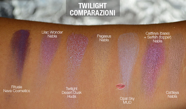 swatch dupe twilight huda beauty desert dusk