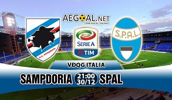 Sampdoria vs Spal.