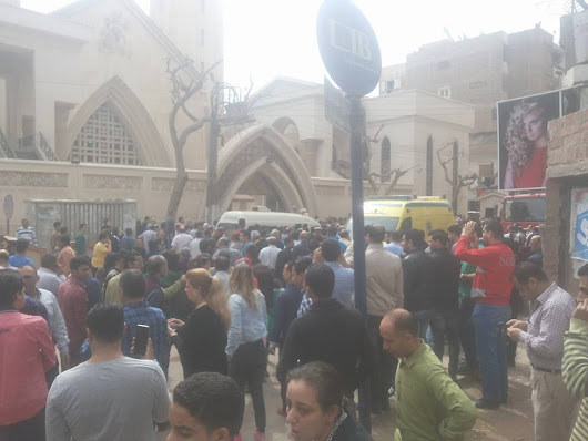 Bloody Palm Sunday as bomb strikes Coptic Church. 21 people reported dead