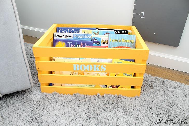 Kids book storage crate