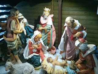 The nativity scene at the local Shopping Centre