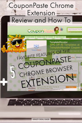 Krazy Deal Daze: CouponPaste Chrome Extension Review and How To