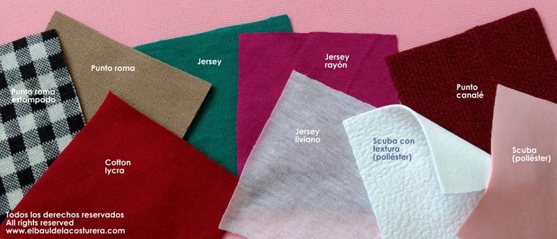 tipos de telas elásticas
