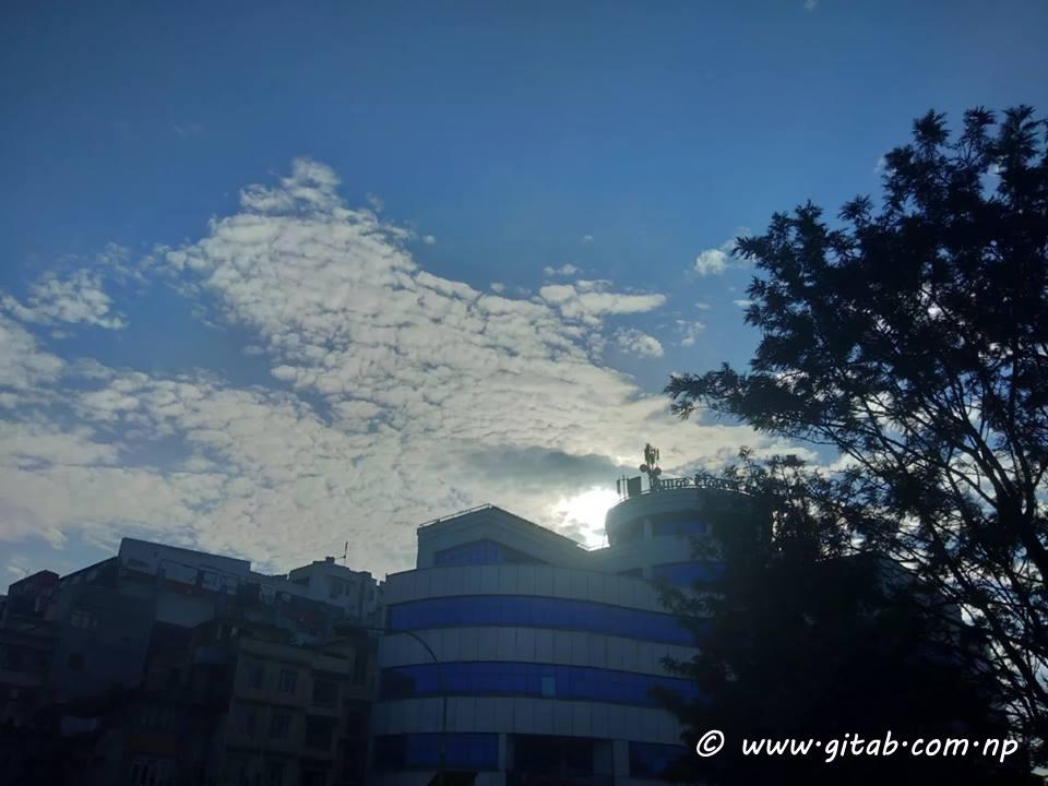 Nice Sky Scene from Kathmandu
