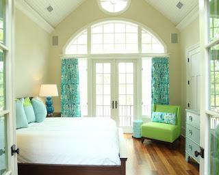 dormitorio turquesa verde