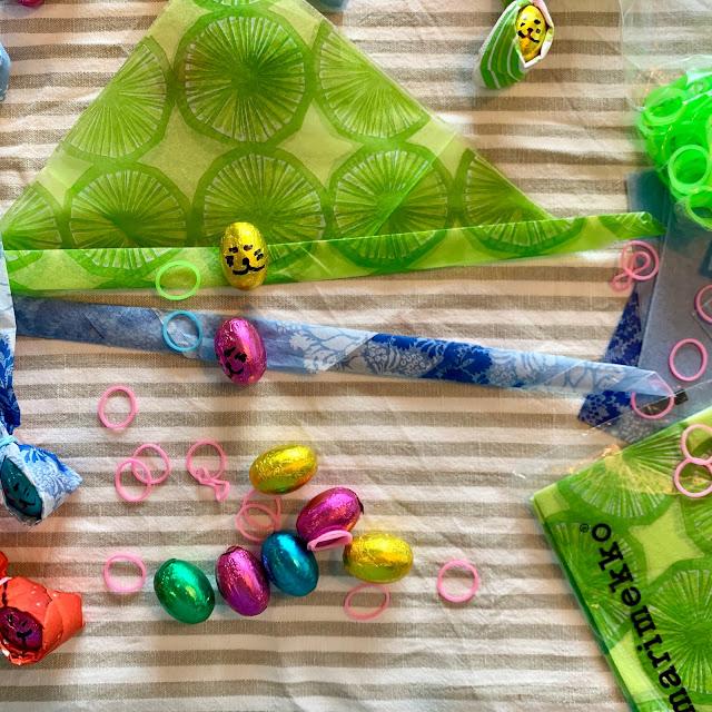 pääsiäispuput serveteistä ja munista