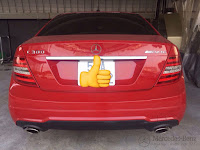 Mercedes C300 AMG 2011 đã qua sử dụng màu Đỏ