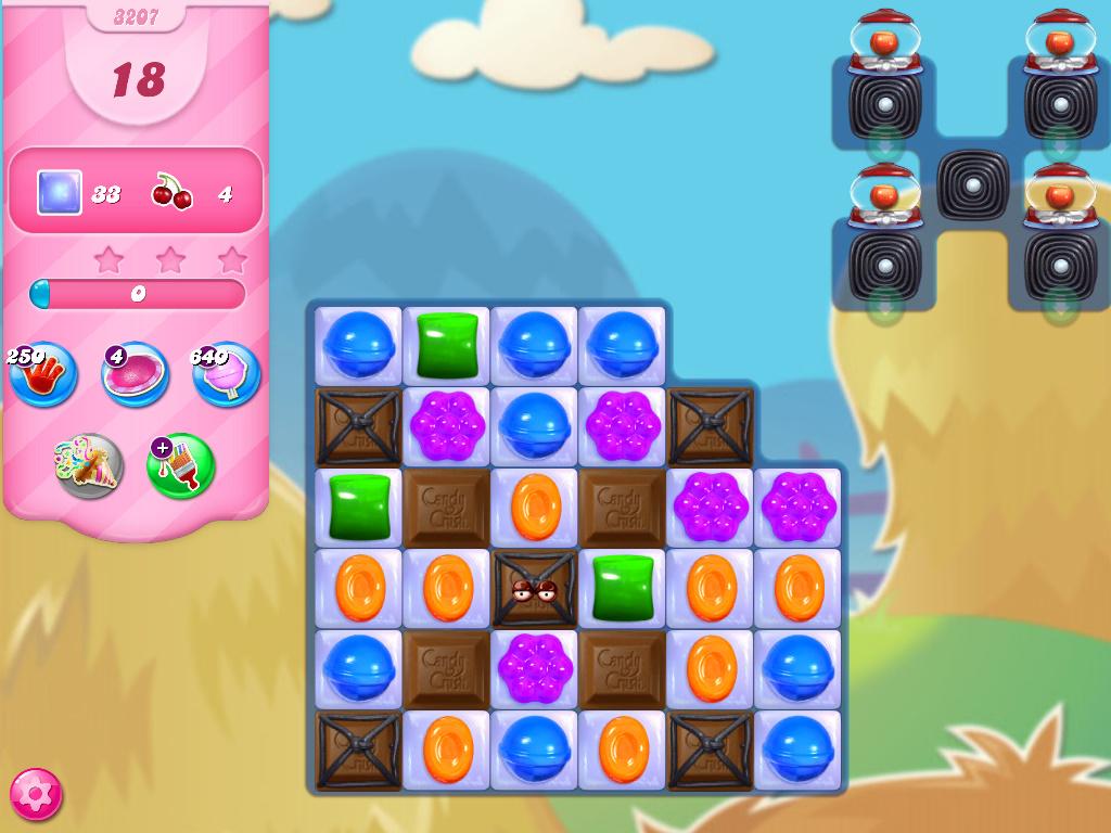 Candy Crush Saga level 3207