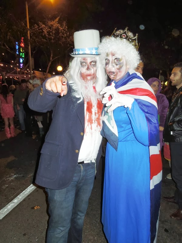 Zombie Uncle Sam british Queen West Hollywood Halloween 2013