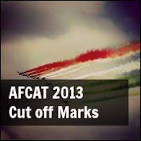 afcat 2013 cut off marks
