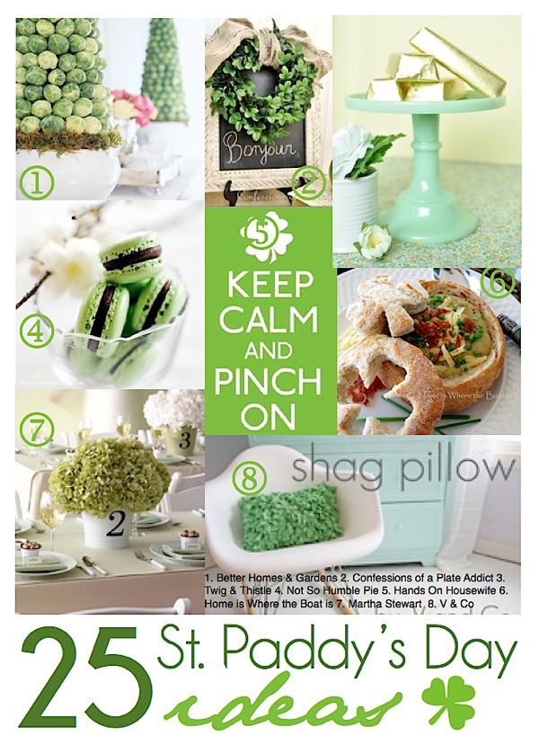 25 St. Paddy's Day Ideas featured at I Gotta Create! #StPatrick