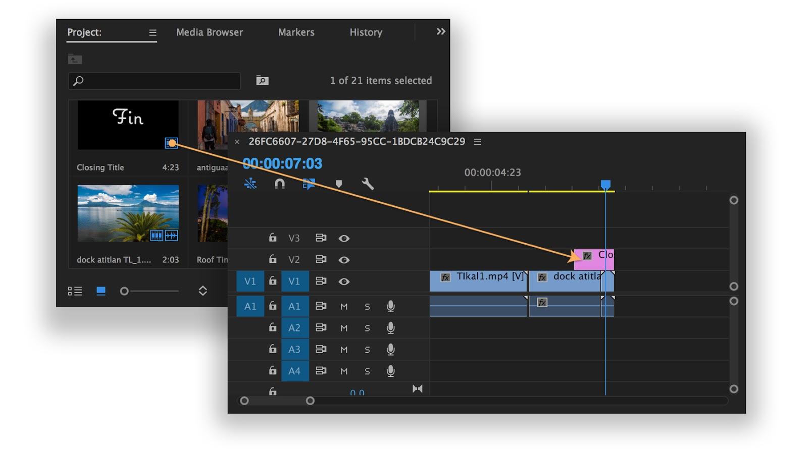 Bổ sung clip tiêu đề cho chuỗi video của bạn