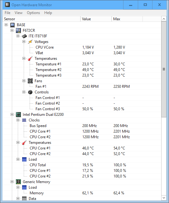 Open Hardware Monitor 0.9.6 - Ver temperaturas y voltajes de procesador y GPU