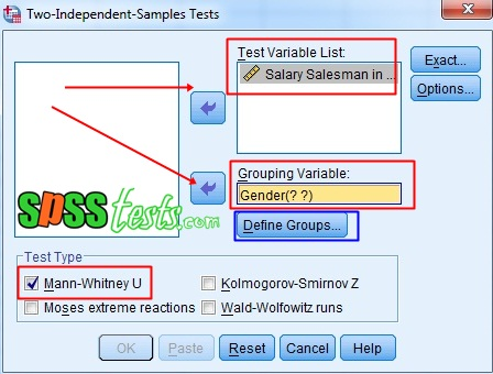 Step by Step Mann Whitney U Test in SPSS