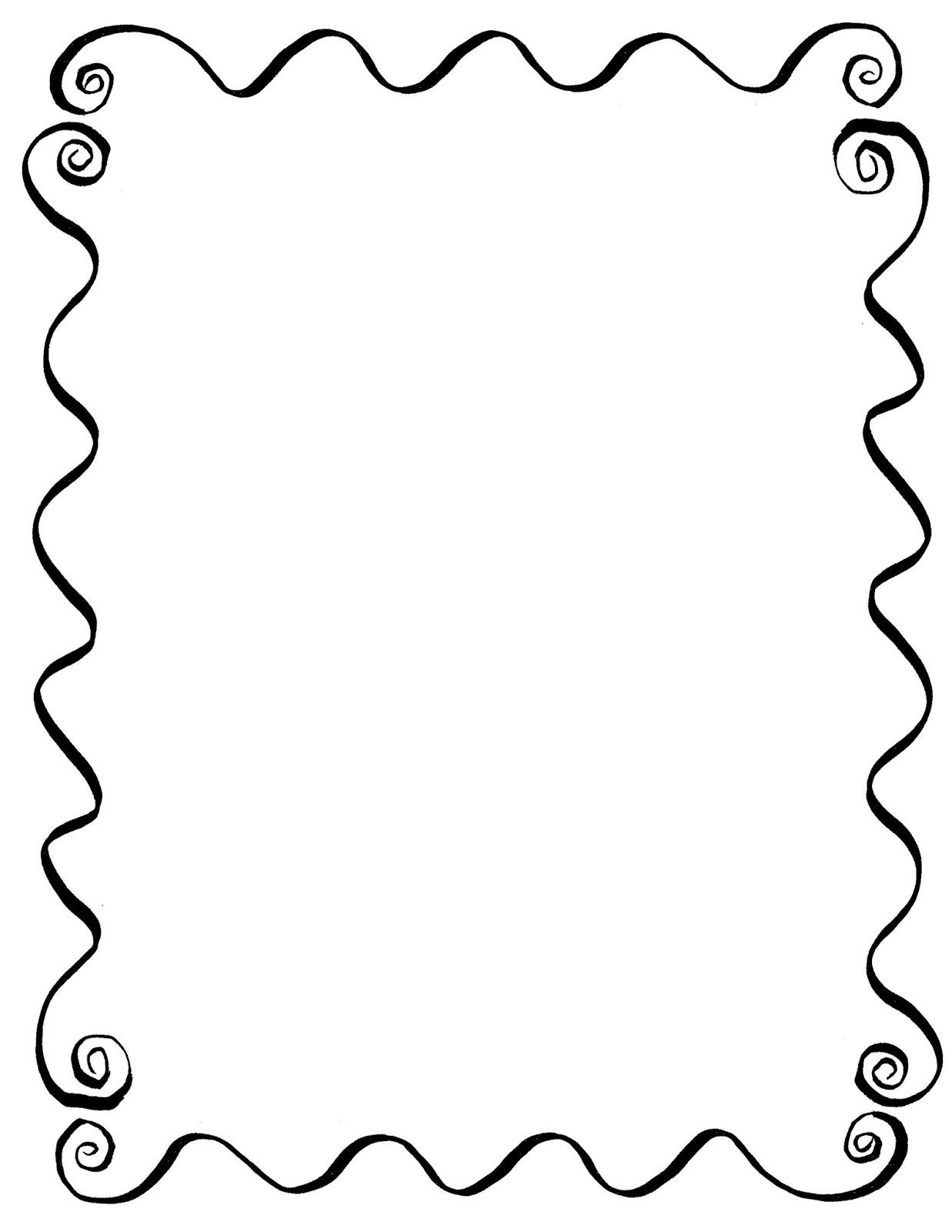 Digital Stamp Design Hand Drawn Decorative Frame Digital