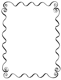 decorative border frame hand drawing drawn line art clipart download