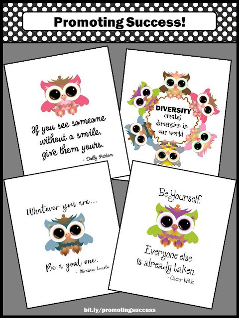 motivational posters for kids owls diversity Quotes