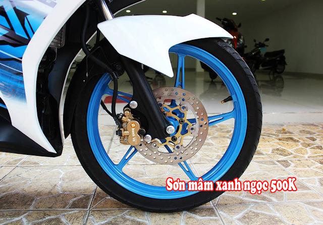 Sơn mâm xe máy một màu, đổi màu góc nhìn, phối màu, tem đấu theo yêu cầu
