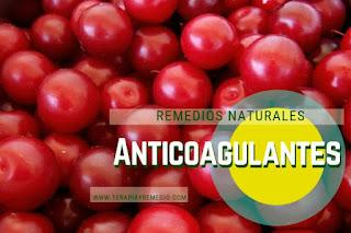 Remedios caseros anticoagulantes naturales o la coagulación de la sangre