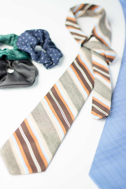 Neck Tie Scrunchies Muslin And Merlot