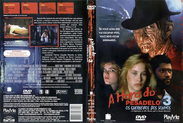 Capa DVD A Hora do Pesadelo 3 Os Guerreiros dos Sonhos