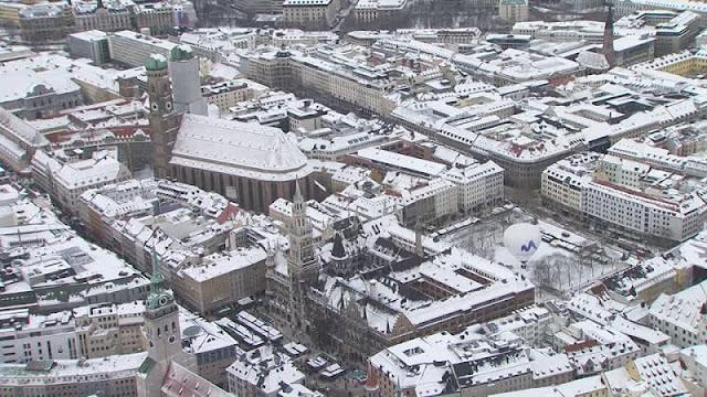 Inverno no Centro de Munique