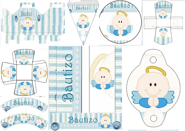 Baptism Angel for Boys: Free Printable Mini Kit.