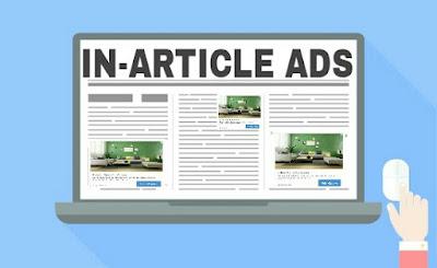 cara memasang iklan in article ads di postingan