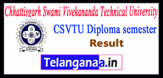 CSVTU Chhattisgarh Swami Vivekananda Technical University Diploma 1st 2nd 3rd 4th 5th 6th Semester Result 2017