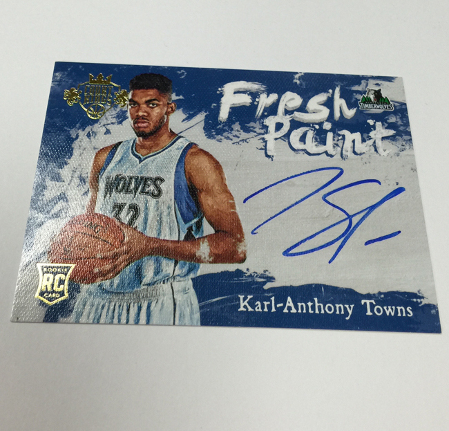 best sneakers e68b1 1f057 Sports Cards Plus Store Blog: PULL A KARL-ANTHONY TOWNS 2015 ...