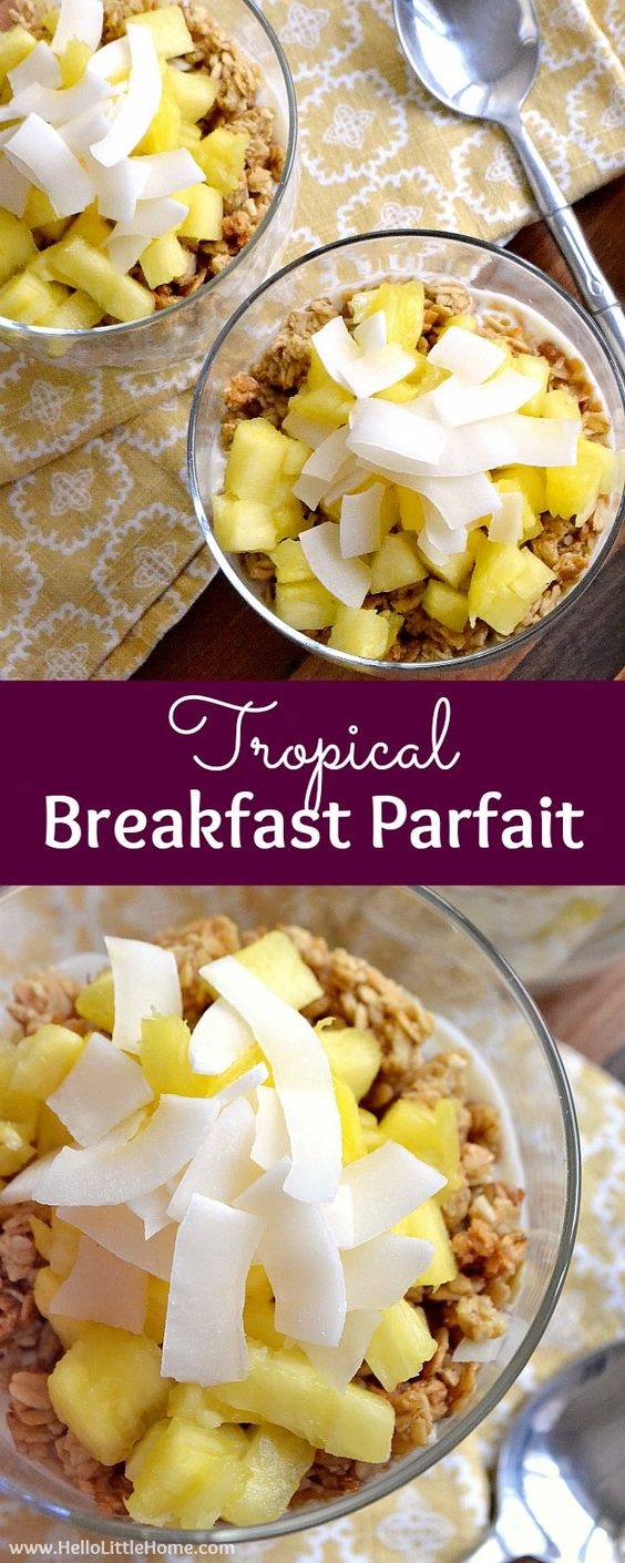 Tropical Breakfast Parfait
