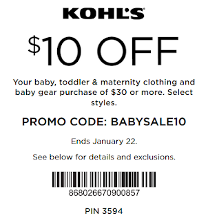 Kohls coupon extra 20% OFF baby and toddler purchase 2017
