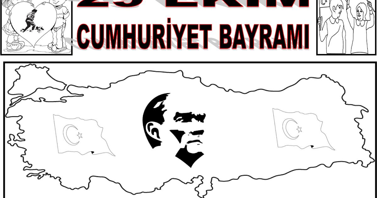 29 Ekim Cumhuriyet Bayramı Boyama Sayfaları Gazetesujin