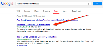 Healthcare And Wireless Google Search