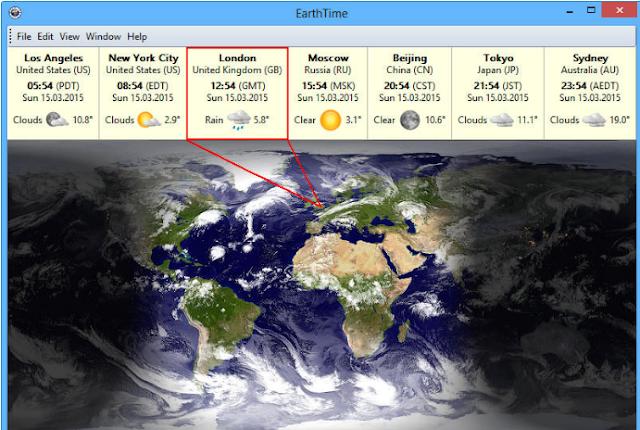 تحميل برنامج التوقيت في جميع دول العالم  Earth Time 5.7