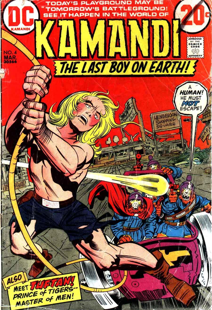 Kamandi v1 #4 dc 1970s bronze age comic book cover art by Jack Kirby